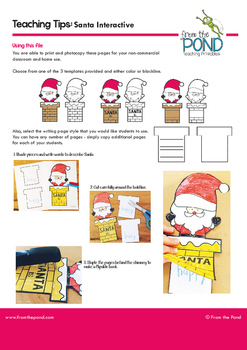 Santa Adjectives Interactive Activity