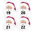 Santa Advent Numbers