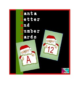 Santa Alphabet AND Number Salt Tray Cards