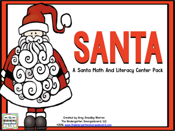 Santa Math And Literacy Centers