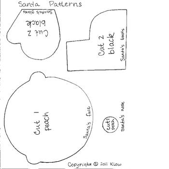Santa--Art and Writing Fun