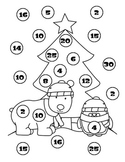 Santa Bear Skip Counting Game