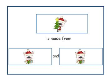 Santa Bears Two Games for Contractions and Compound Words