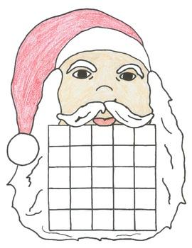 Christmas Santa Bingo