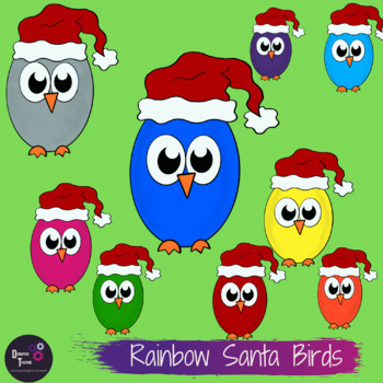 Santa Birds Clip Art Set- Perfect for Christmas Activities