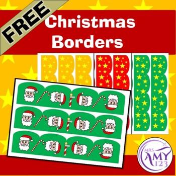 Christmas Santa Bulletin Border