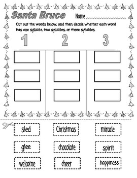 Santa Bruce  --  Comprehension, Synonyms, Writing, and More!