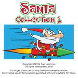 Santa Cartoon Clipart Collection 1