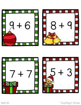 Santa Centers- 10 Literacy & Math Centers