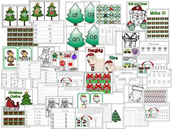Santa Centers (Literacy and Math Centers for Christmas)