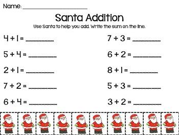 Santa Christmas Addition to 10