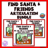Santa Christmas Articulation Boom Cards Activity BUNDLE