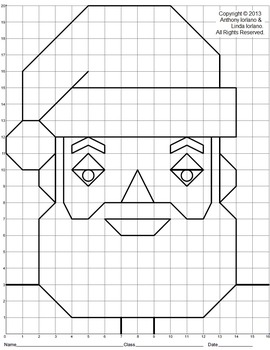 Santa, Christmas, Coordinate Drawing, Coordinate Graphing, Mystery Picture