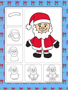 Santa Christmas Directed Drawing Free
