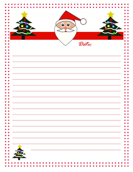 Santa Christmas Letter - 4th-8th Grade
