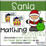 Santa Christmas Matching Activities:  Letters, Numbers, Colors, and More