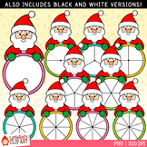 Santa Christmas Spinners Clip Art