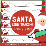 Santa Christmas Themed Prewriting Activity Cards