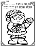 Santa & Christmas Tree Color by Sight Word Duo