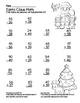 Santa Claus 2 Digit Subtraction & Addition Regrouping Common Core (color &black)