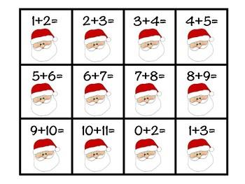 Santa Claus Addition Strategy Sort