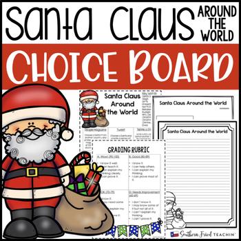 Santa Claus Around the World Choice Board
