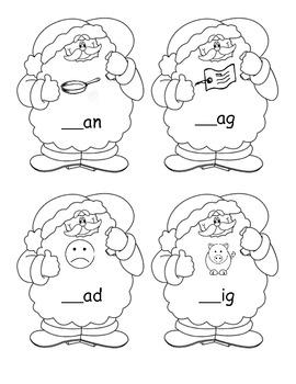 Santa Claus - Beginning Sounds - Common Core