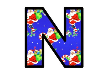 Santa Claus Christmas Bulletin Board Letters, Classroom Decor, Christmas Posters