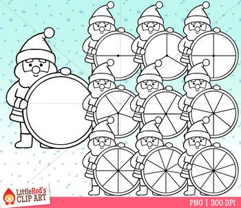 Santa Claus Spinners Christmas Clip Art