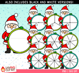 Santa Claus Spinners Christmas Clip Art