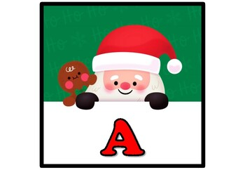Santa Claus, Christmas, Winter, Bulletin Board Letters, Alphabet Posters A-Z
