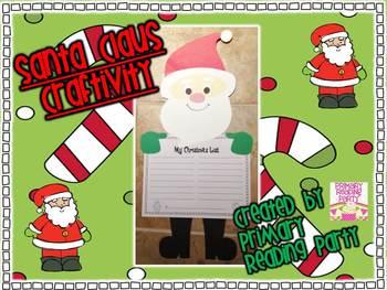 Santa Claus Christmas/Holiday Writing Craftivity