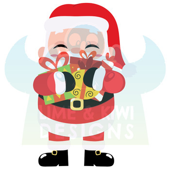 Santa Claus Clipart, Instant Download Vector Art, Commercial Use Clip Art