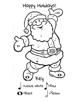 Santa Claus Color-By-Note