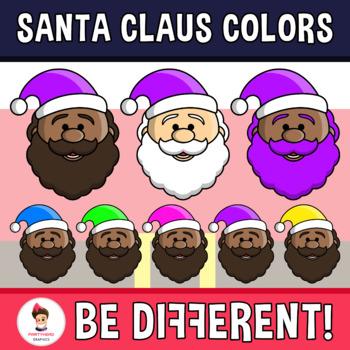 Santa Claus Colors Clipart