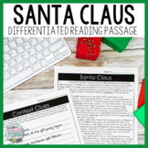 Santa Claus Differentiated Reading Passage Distance Learni