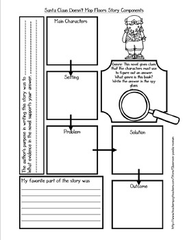 Santa Claus Doesn't Mop Floors Novel Study (FREE Task Cards Included)