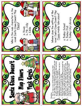Santa Claus Doesn't Mop Floors Task Cards
