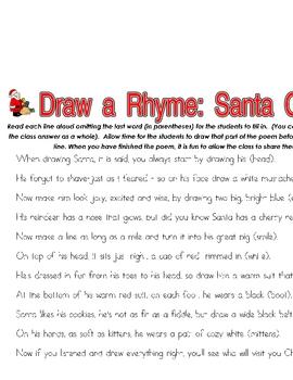 Santa Claus Draw a Rhyme