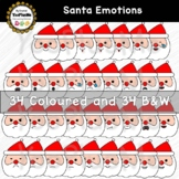 Santa Claus Emotions Christmas Clip Art