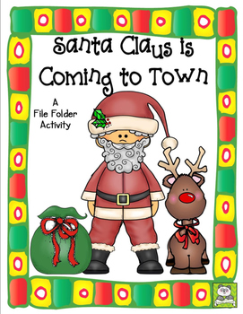 Santa Claus File Folder Activity