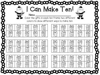 Santa Claus Flip Ten - A Making Ten Game