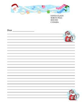 santa claus letter template santa claus letter template