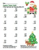 """Santa Claus Math"" 2 Digit Subtraction Regrouping Common C"
