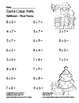 """Santa Claus Math"" Mixed Multiplication - Common Core - Fun! (black line)"