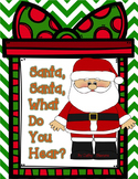 Santa Claus, Santa Claus, What Do You Hear? Interactive Book and Picture Cards