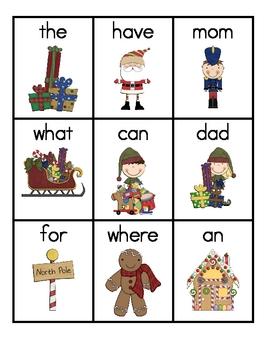 Santa Claus Sight Word Game