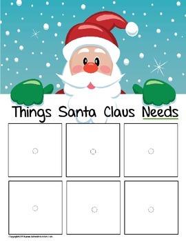 Santa Claus Sorting File Folder Game FREE