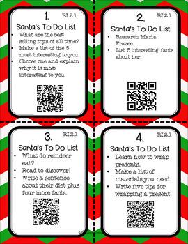 Santa's To Do List - QR Codes, Context Clues, & More!