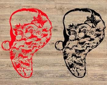Santa Claus beard Face SVG Christmas Santa Claus SVG tackle merry Santa 1056s